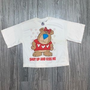 Vintage 1994 Shut Up And Kiss Me Cropped T Shirt